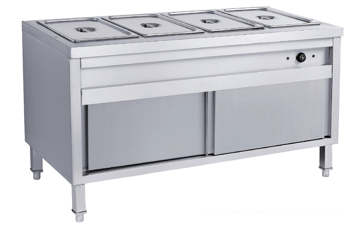Newworld Stainless Steel   4 pan bain marie with cabinet